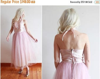 "SALE 1950s dress | pastel pink 50s dress | bombshell cupcake fairy dress | size s bust 34"" waist 26"""