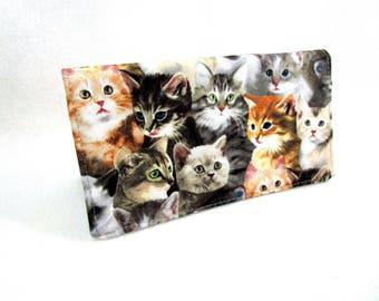 Beautiful Kittens Handmade Fabric Checkbook Cover/Washable