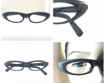 Extreme Winged Cat Eye Frame /Avant Garde /Layered/ France Eyeglasses, Sunglasses, NOS On Sale