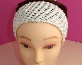 40% OFF SALE Instant Digital File pdf download knitting pattern only- Ballerina Beaded Easy Lace Headband & Bun-cover pdf download knitting