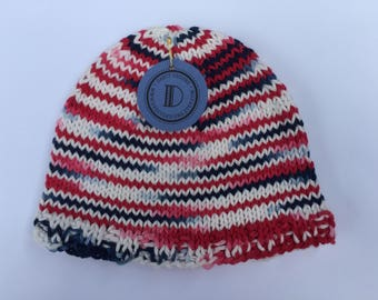 Patriotic Hat – Red, White, Blue – Size 3-6 Months