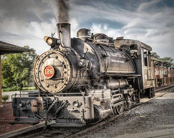 Vintage Train - Steam Engine - Sadie - Old Train - Railroad - Railway - Old Steam Engine - Fine Art Photography