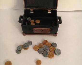 Playmobil pirate treasure chest with coins