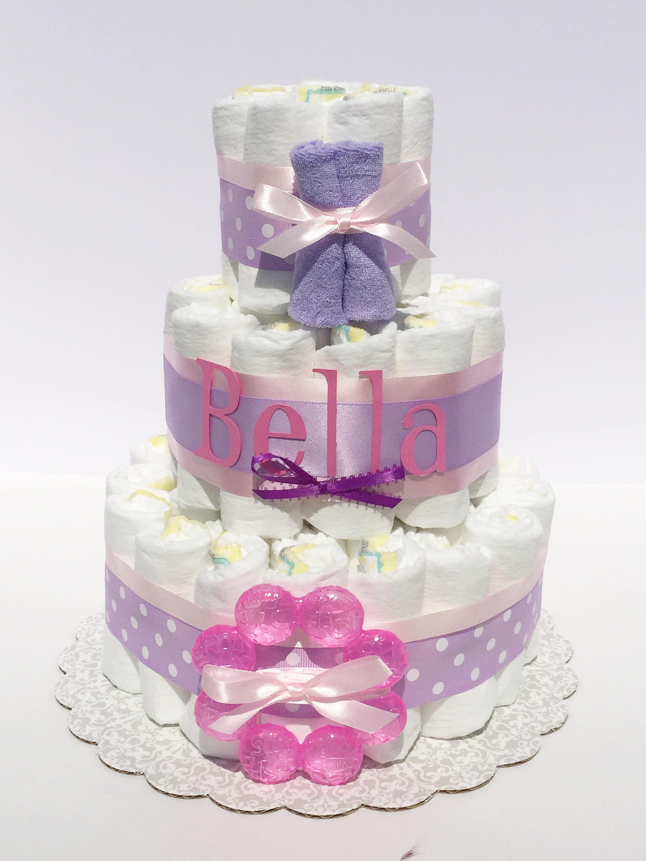 Girl Diaper Cake Girl Pink Diaper Cake Girl Diaper Cakes for