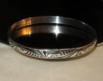 Art Nouveau Danecraft Felch Bracelet Bangle Sterling Silver 925 Antique