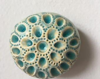 Sea Jewel Ceramic Turquiose Wall Pod With Bue Glass 3