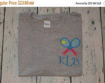 ON SALE Personalized Ladies Tennis tee shirt