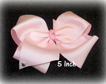 girls boutique bow, Big Bows, 5 inch bow, large hairbows, You Pick Colors, pageant bow, dance bows, cheer bow, x-tra large hair bows, basic