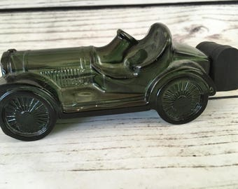 Avon Car Bottle, Green Glass Car, Avon Cologne Bottle, Aftershave bottle, Car, Vintage Avon, Car Decanter, Perfume Bottle, Old Avon Bottle