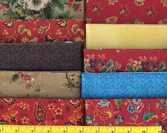 "CHINTZ MEDALLION Jelly Roll 40 - 2.5"" Strips Quilting Fabric"