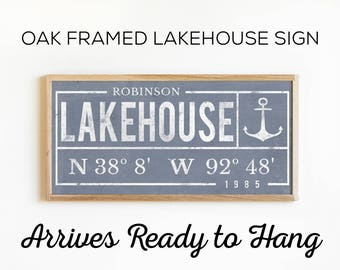 Custom Lake House Sign - Perfect House Warming Gift for a Lakehouse property