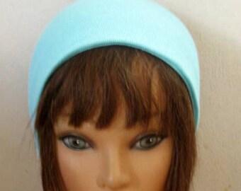 Jersey Knit Headband, Blue Elastic Hair Band, Elastic Band Headband, Hair Accessory, Hair Turban, Women and Teens