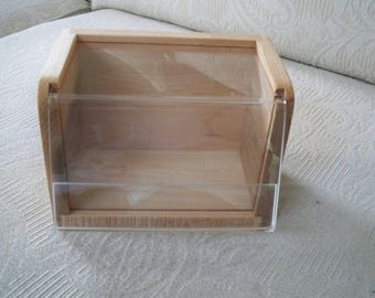 Vintage Storage Recipe File Box Wood Box Kitchen Recipe Stand