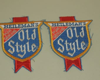Two Vintage Heilemans Old Style Embroidered patches