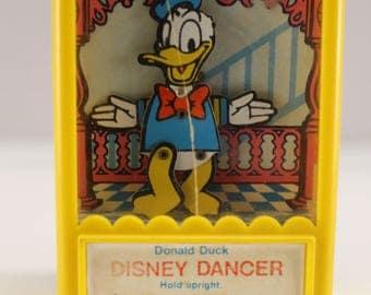 Vintage Kohner Donald Duck Disney Dancer Showboat Toy Spin the wheel See Me Dance