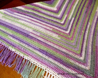 Purple and Green Sparkly Shawl