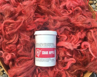 "Suri Alpaca Fiber, Seconds, Hand-Dyed, Crab Apple, ""Sam"""