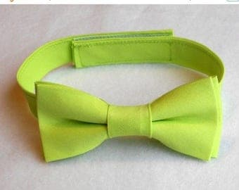 SALE Lime Green Bowtie - Infant, Toddler, Boys - 2 weeks before shipping