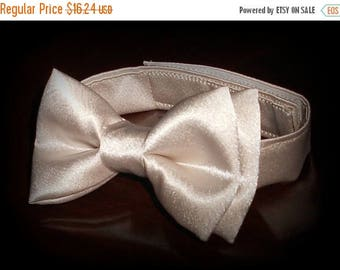 SALE Champagne Bowtie - Infant, Toddler, Boys- Creme, Tan, Beige -              2 weeks before shipping