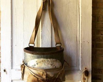 Fabulous Vintage Apple Picking Bucket