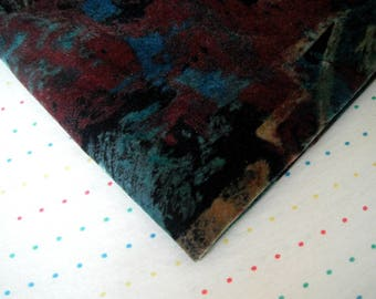 """Colorful Abstract Art Print Suede Cloth Fabric, Soft Faux Suede Fabric, Felt Alternative, 54"""" Wide - 2 Yards"""