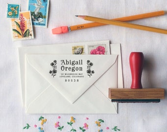 Custom Return Address Stamp // Personalized Rubber Stamp // OREGON