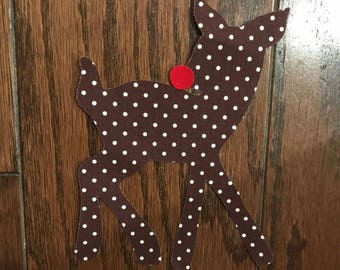 Simple Reindeer Iron On Applique, You Choose Fabric