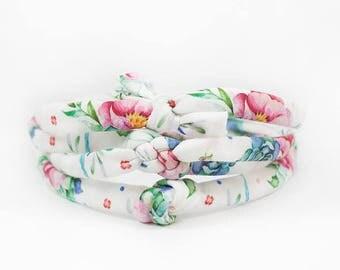 Baby Headband, Baby Knot Headband, Succulent Headband, Newborn Headband, Boho Headband, Baby Photo Prop, Baby Girl Gift, Baby Shower Gift