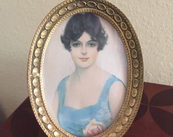 Vintage metal picture frame