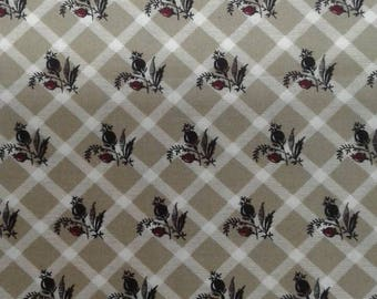 1800S Reproduction Fabric by Windham. Nuts n' Berries Collection. #170E