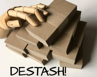 "DESTASH SALE ... 100 Heavyweight Kraft Chipboard Cards 2.5"" x 5"" Liquidation Sale Wholesale Price Blank Cards DIY Etsy Seller Supplies"