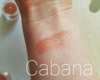 CABANA - Light Coral Bronze Shimmer - Mineral Mica Make up Eye Shadow - Bronzer - Blush - Face Gift for her -5ml sifter jar - cruelty free