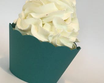 Teal Cupcake Wrappers, Teal Green,