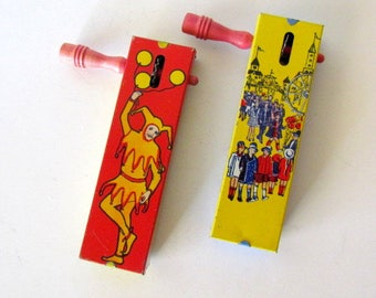 Vintage Kirchhof Litho Tin Toy Noise Makers