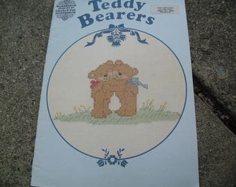 Vintage Teddy Bearers Counted Cross Stitch Pattern Booklet Designs by Gloria and Pat Counted Thread Cross Stitch Book