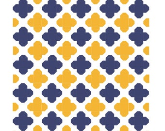 Casablana Quatrefoil Quilt Pattern - PDF quilt pattern, downloadable quilt pattern, digital quilt pattern, immediate download, quilt block