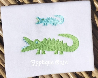 996 Mini Alligator Machine Embroidery Design