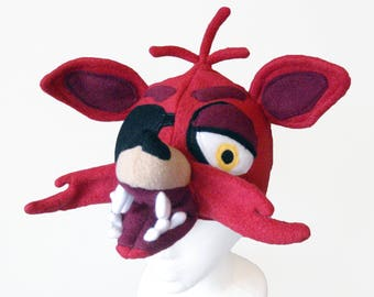 Pirate Fox Hat, Cosplay Foxy FNAF inspired, Five Nights at Freddy's Video Game, Scary Horror