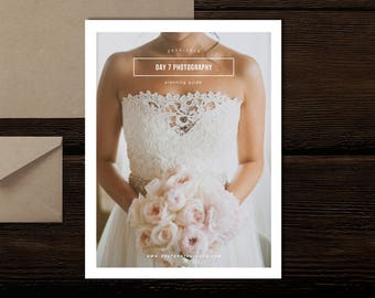 Wedding Photography Magazine Template - New Client Studio Welcome Packet - Minimal Wedding Photographer Branding - Bridal Guide
