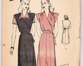 Vintage 1947 Butterick 3426 FF Sewing Pattern Misses' Maternity Jumper and Blouse Size 16 Bust 34