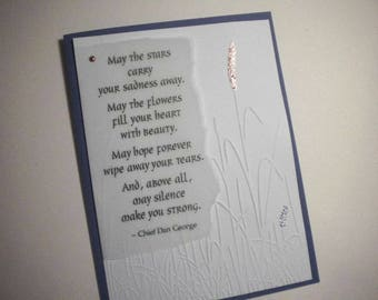 SILENT STRENGTH ~ Native American Inspired Greeting Card, inspirational quote by Chief Dan George (encouragement, sympathy)