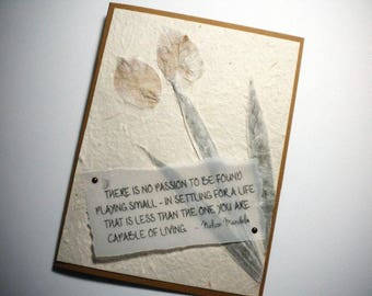 YOUR LIFE'S PASSION ~ Collage art card with inspirational quote by Nelson Mandela