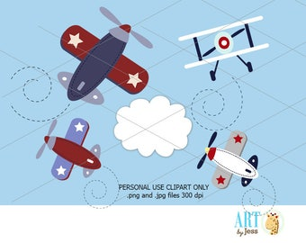 Zooming Along Airplane Planes Clipart Clip Art Images Baby Showers and Birthdays Personal Use only bs-007