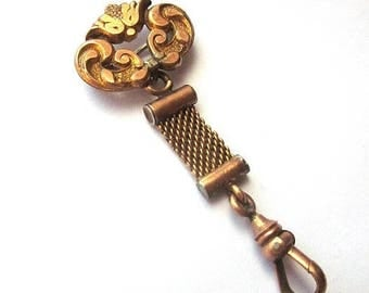 SALE Antique Gold Brooch Watch Fob