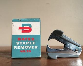 Vintage BATES Staple Remover. Original Box.