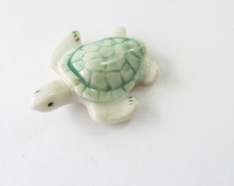 Tiny Turtle, Ceramic Turtle figurine,