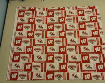 University of Wisconsin Badgers Fabric 249394