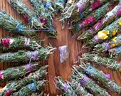 Rosemary, Sage, and Rose Smudge Bundles, Smudge Sticks, Sacred Ceremony, Ritual Cleansing, Purification, Spiritual Gift, Smudging Herbs
