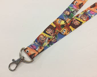 Toy Story, Buzz Lightyear, Woody, Jesse, Slink ID Lanyard with Lobster Claw Clasp