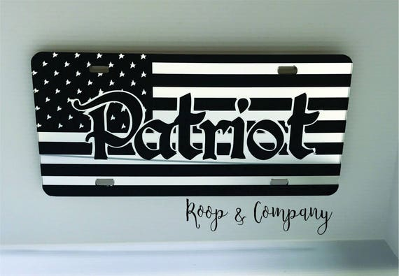 Mirror American Patriot License Plate- Merica - American - Patriot - Flag - Old Glory